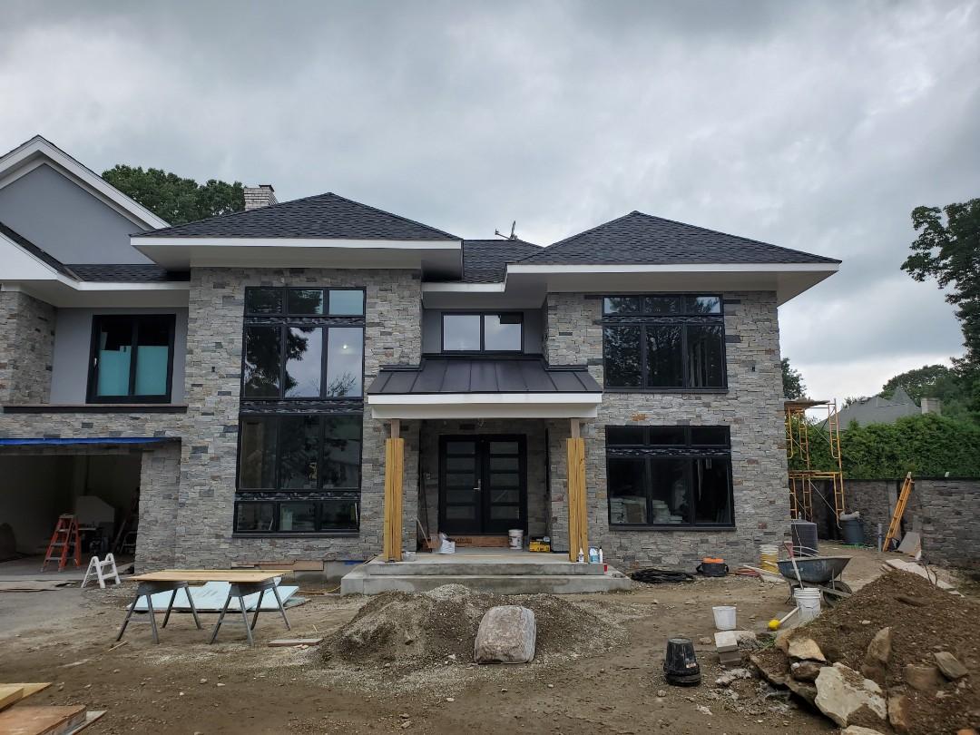 Cranston, RI - Aluminum metal double lock standing seam roof