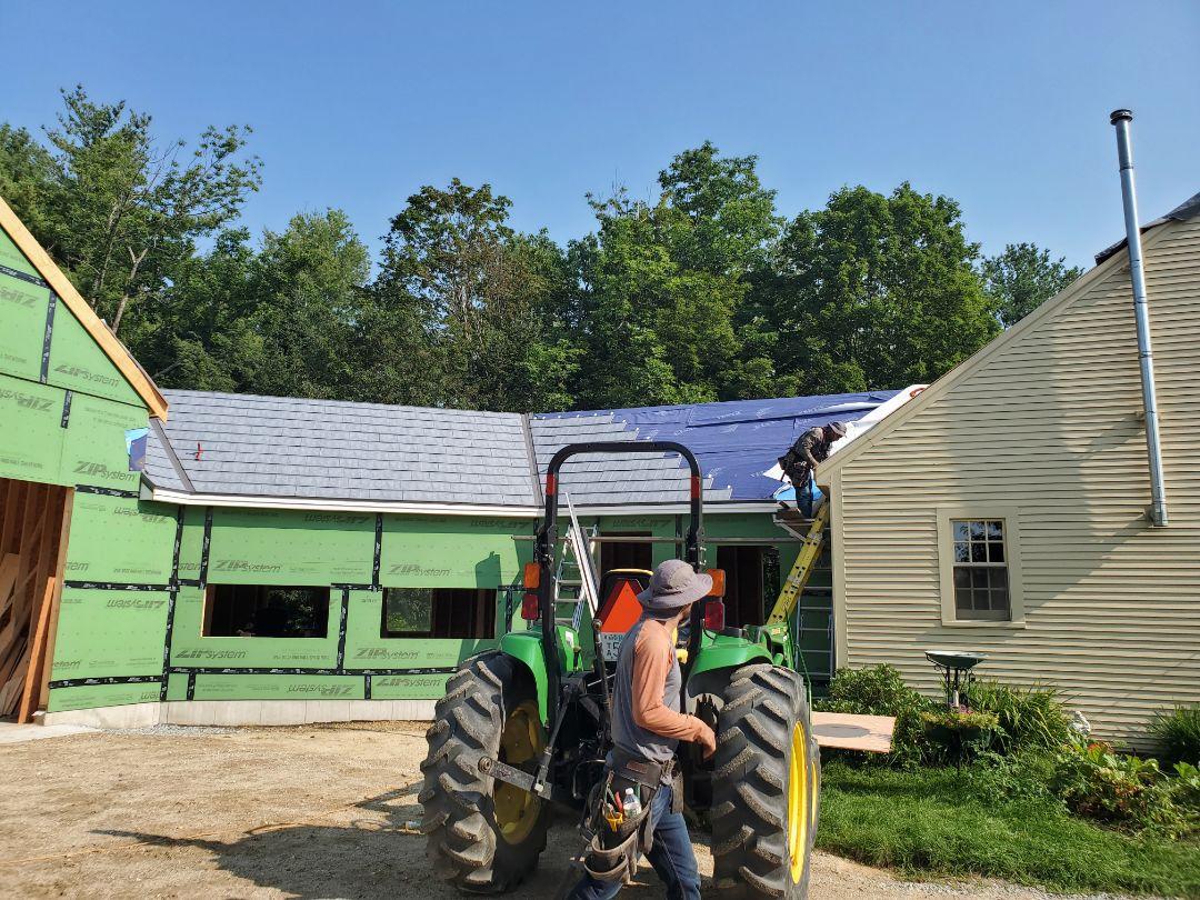 Aluminum metal roofing shingles underway