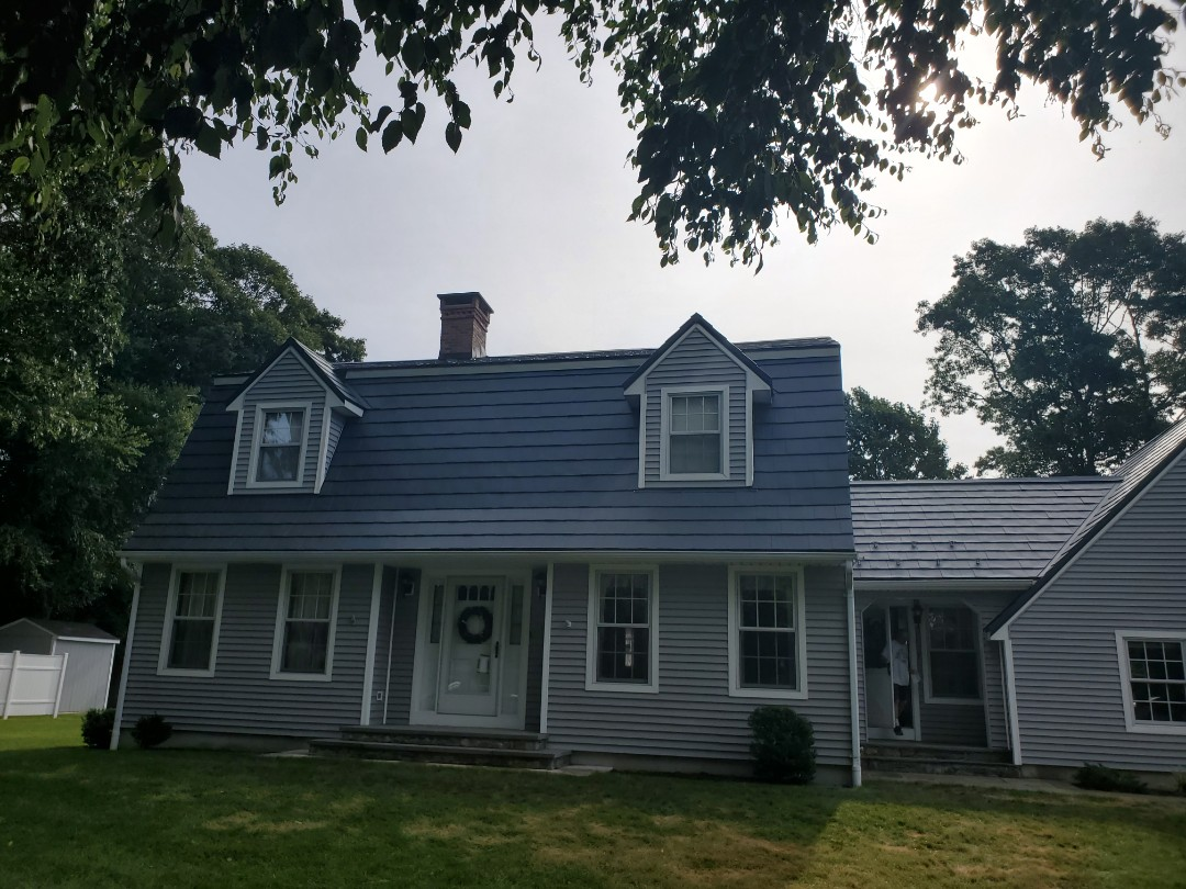 Aluminum metal Oxford shingles color Vermont slate