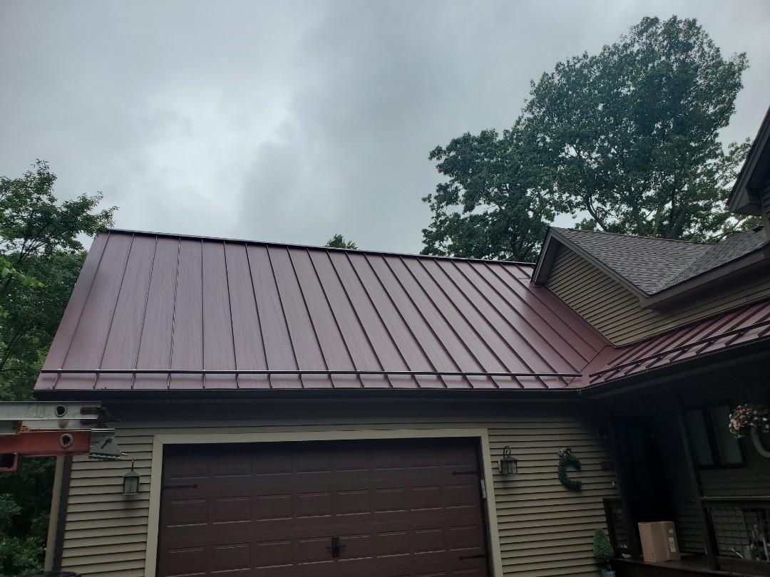 Aluminum metal standing seam roof