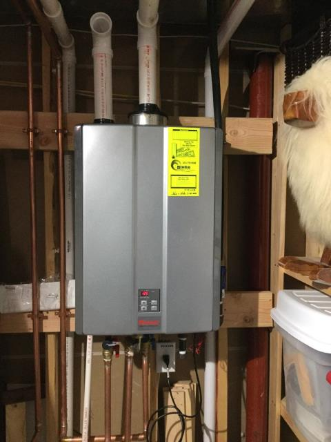 Cincinnati, OH - Installed a brand new Rinnai RUR199iN Tankless Water Heater for a residential customer.