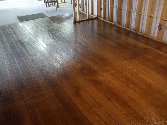 Looks just like real wood! A fantastic decorative concrete coating done by Garage Floors Today! They made this section of the house look absolutely perfect! I love the quality of their work! If you are looking for a decorative coating expert, my suggestion is Garage Floors Today!