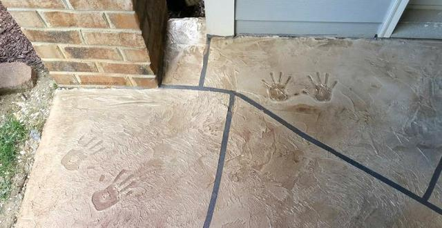Personalized decorative concrete coatings by Garage Floors Today makes for a beautifully unique floor!