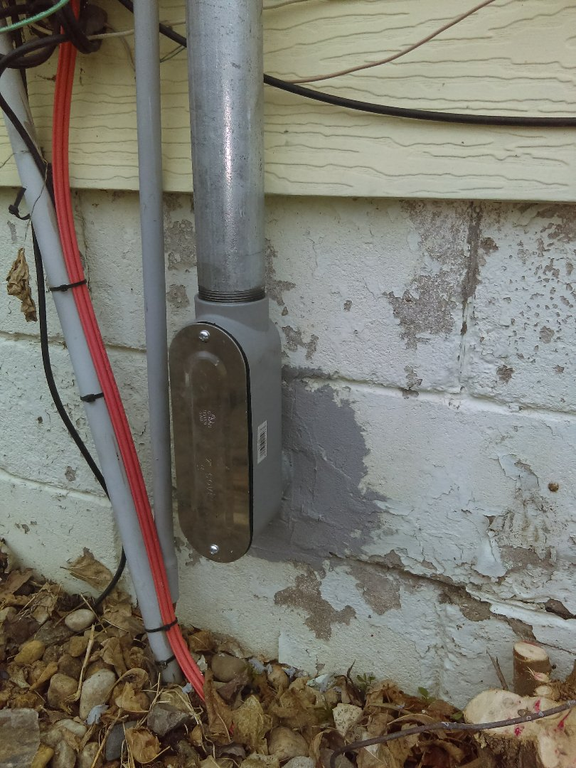 Tonica, IL - Sealing a hole for a new service meter socket
