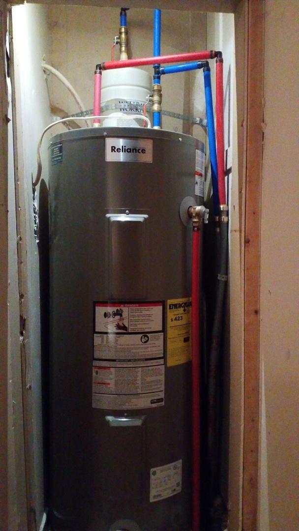 Installed warranted water heater!