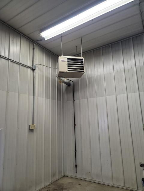 Install Lennox hanging garage heater