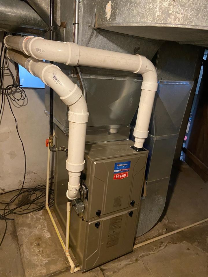 Bryant furnace install