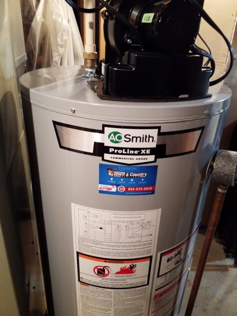 Oglesby, IL - Install 40gal propane power vent water heater