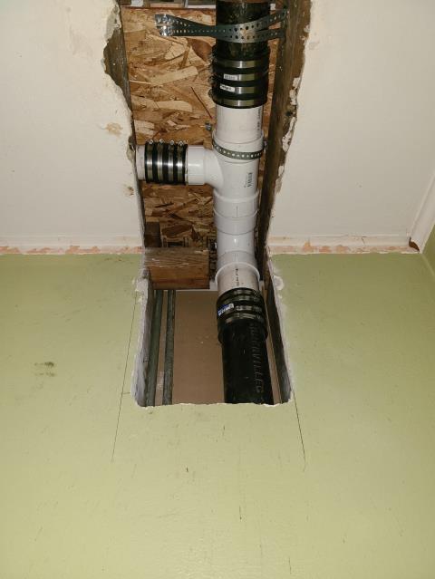 Marseilles, IL - Replaced broken cast iron pipe