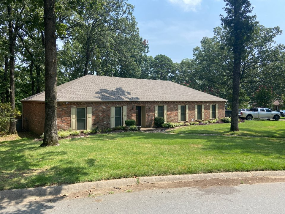 Little Rock, AR - Finished installing a GAF Timberline HDZ Weathered Wood roof.