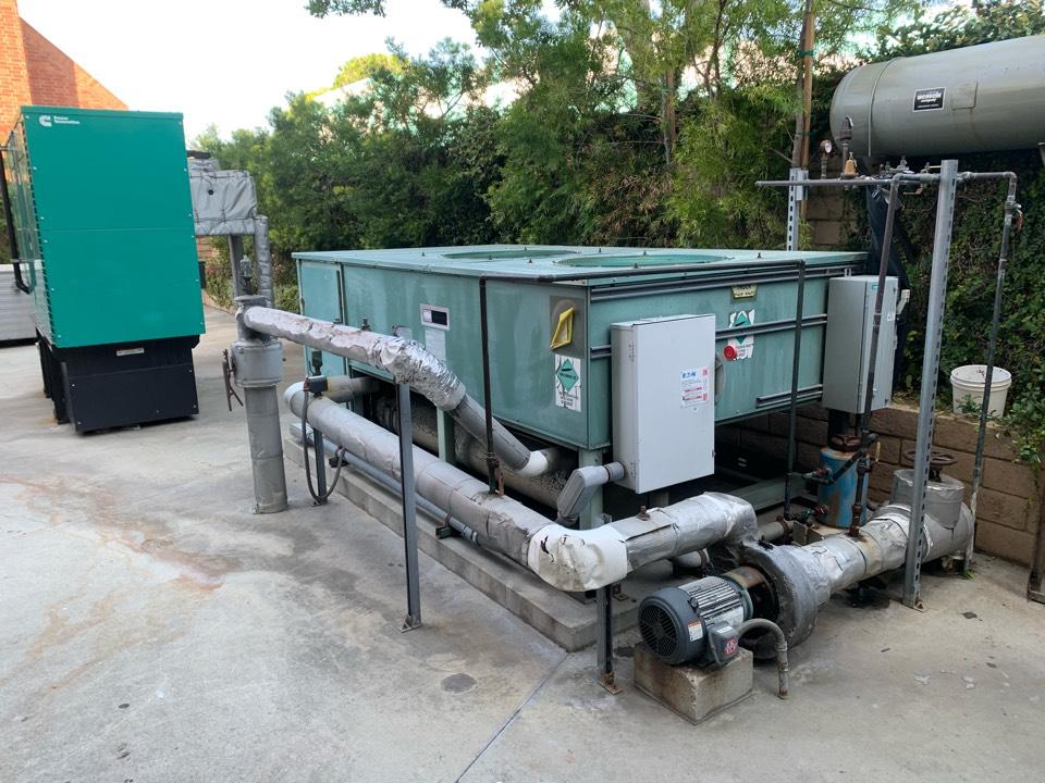 Whittier, CA - Chill water pipe insulation work.