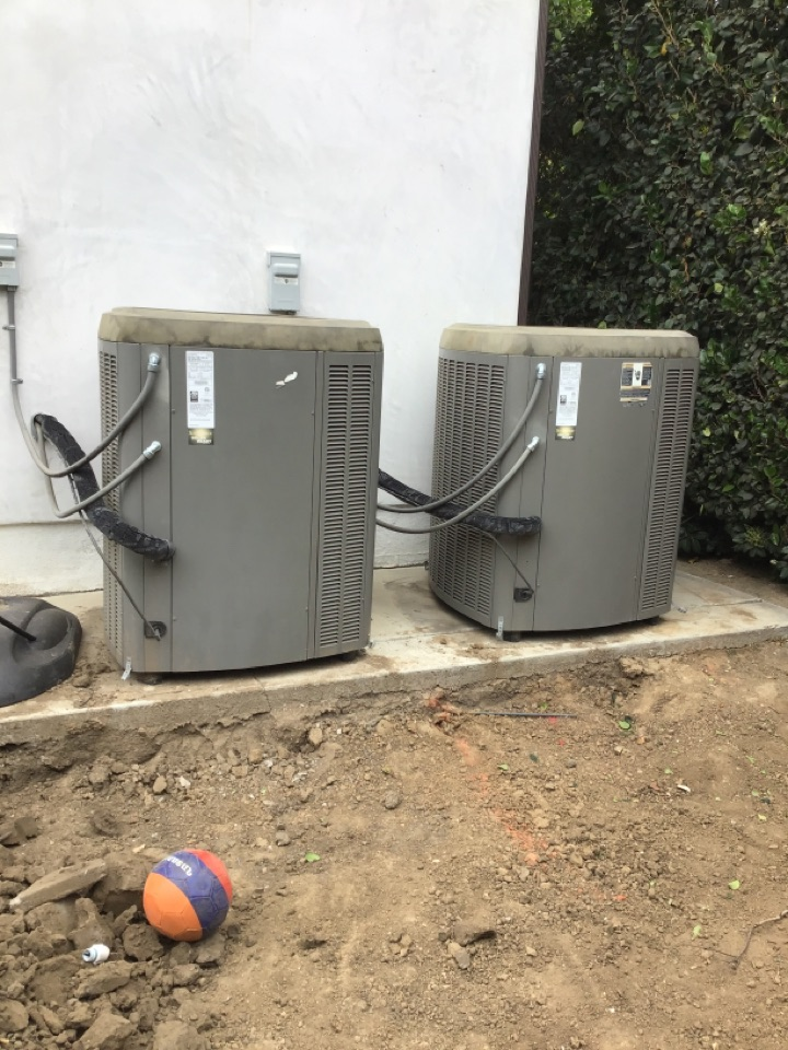 Montebello, CA - Re location of two condensers we installed years ago here in montebello