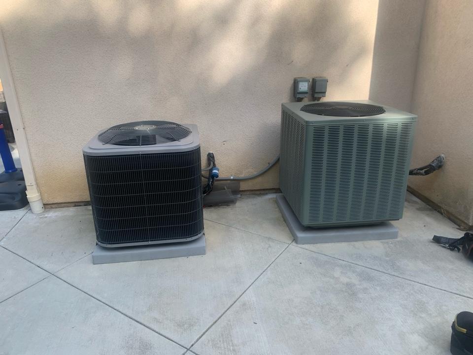 La Habra Heights, CA - Diagnostic on two spit AC units
