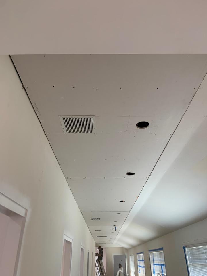 Malibu, CA - Finished installing in-set register.  The final product will look even better once a skim coat is layer on the entire ceiling