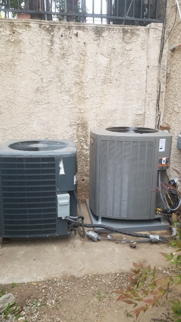 Monterey Park, CA - New AC appartment unit compared to existing old AC appartment unit. Here in Montebello.