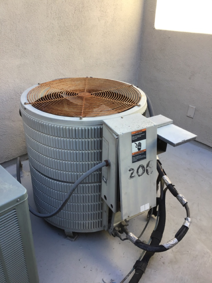 Beverly Hills, CA - Lennox heat pump change out of this very old system here in Beverly Hills