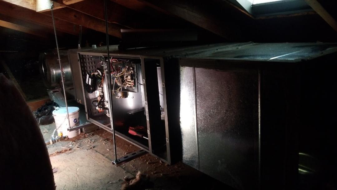 Burbank, CA - Small attic but getting done. Here in Burbank, CA