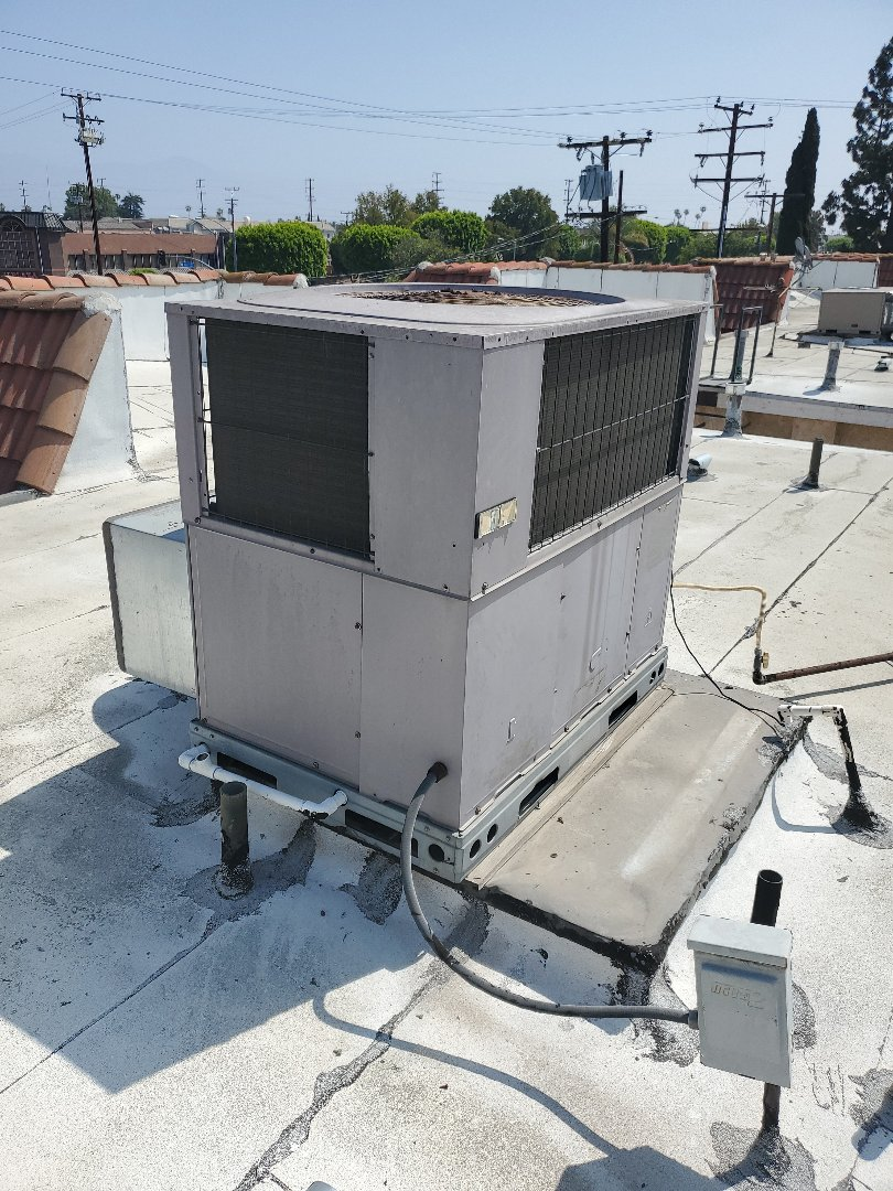 Monterey Park, CA - Changing old package unit. To new