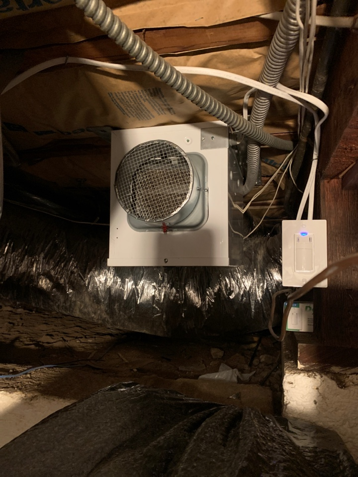 Beverly Hills, CA - Installed humidity controlled basement fans here in Beverly Hills