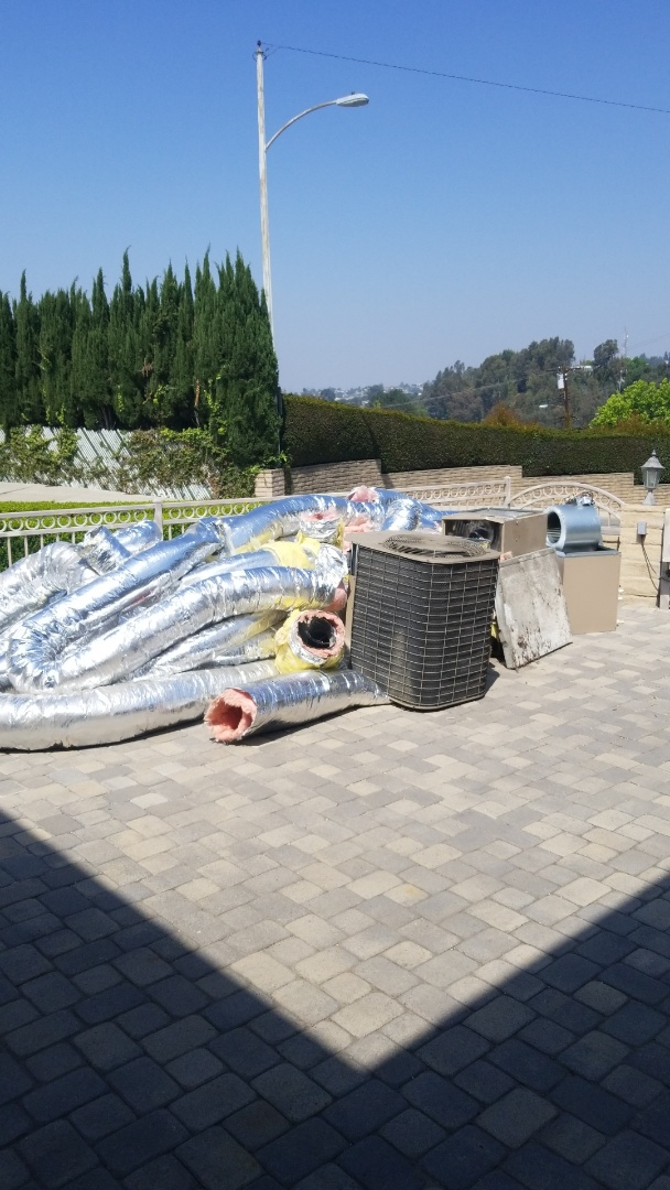 Monterey Park, CA - Old equipment out. Ready for the new install.  Here in Monterey park, CA