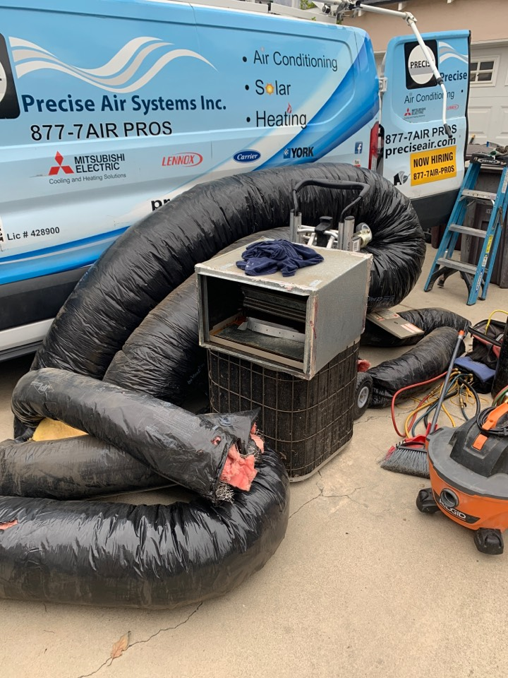 Glendale, CA - Remove  and replace all new ducting here in Glendale