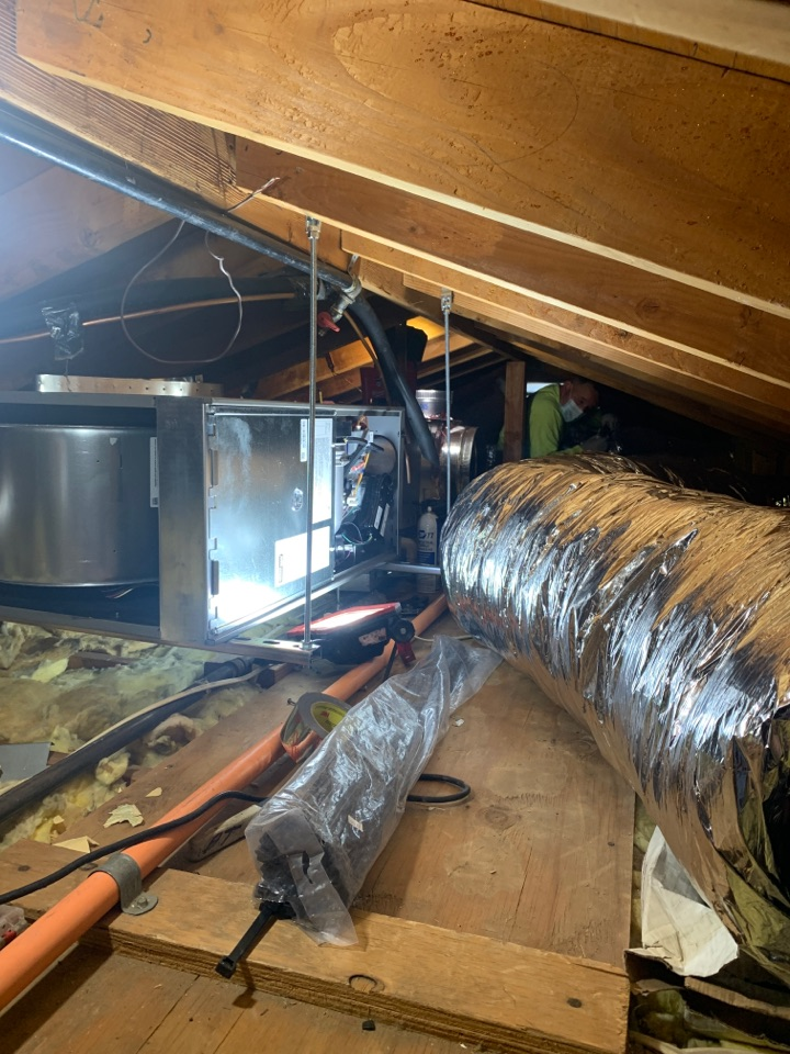 Glendale, CA - My guys hard at work full system change out with ducting here in Glendale