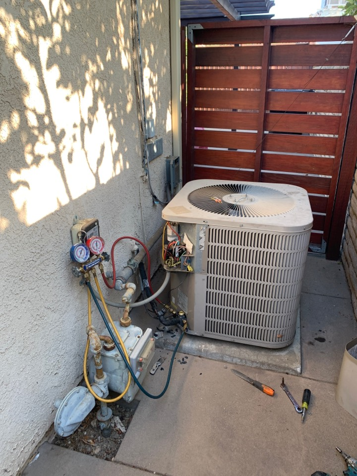 San Gabriel, CA - Changing out a 4 ton full system with all new ducting . Adding zoning separating the upstairs from the downstairs all equipment communicating here in San Gabriel