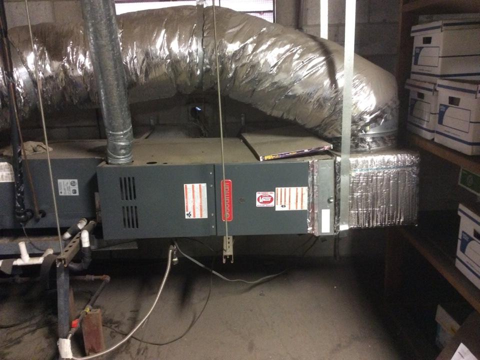 Ventura, CA - Servicing a split system . (Horizontal furnace)