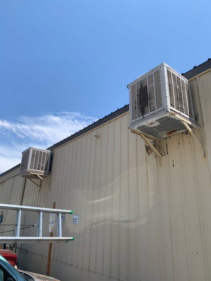 Santa Clarita, CA - Detail of changing out two swamp coolers here in Newhall