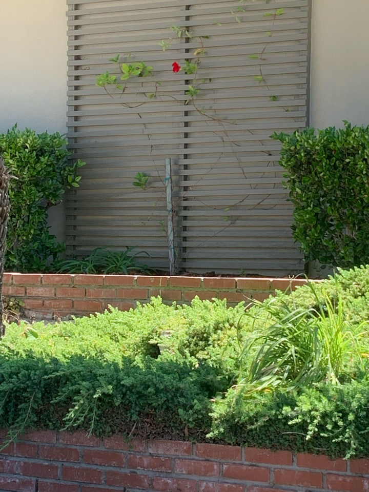Rancho Palos Verdes, CA - Detail of a Slimline condenser and coil going to be added on here in Ranchos Palos Verdes