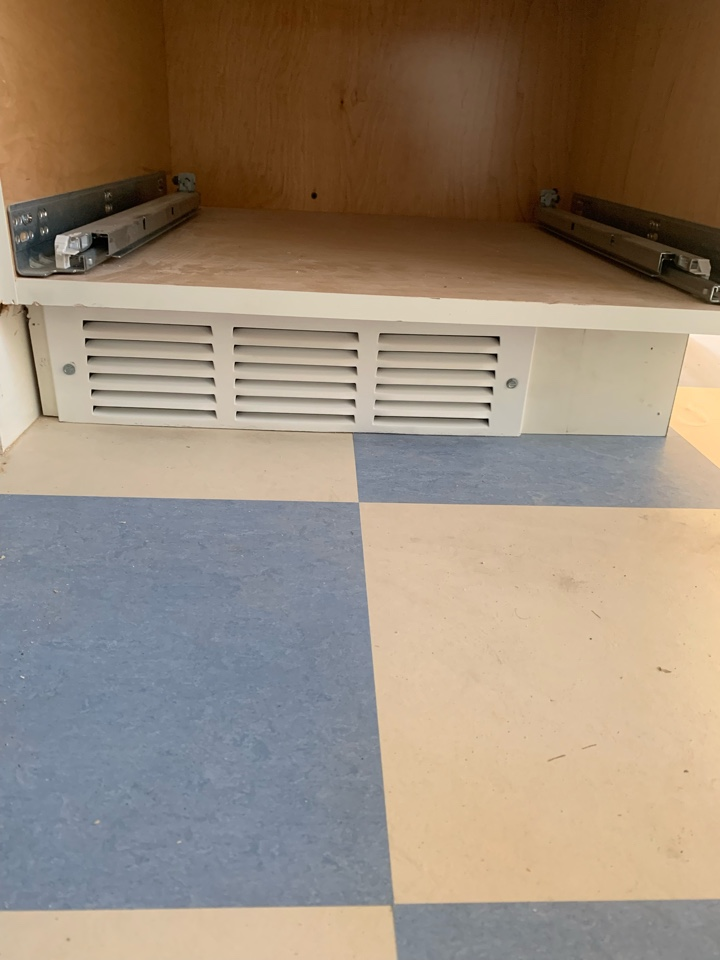Beverly Hills, CA - Install of a toe kick register of a job we did here in Beverly Hills