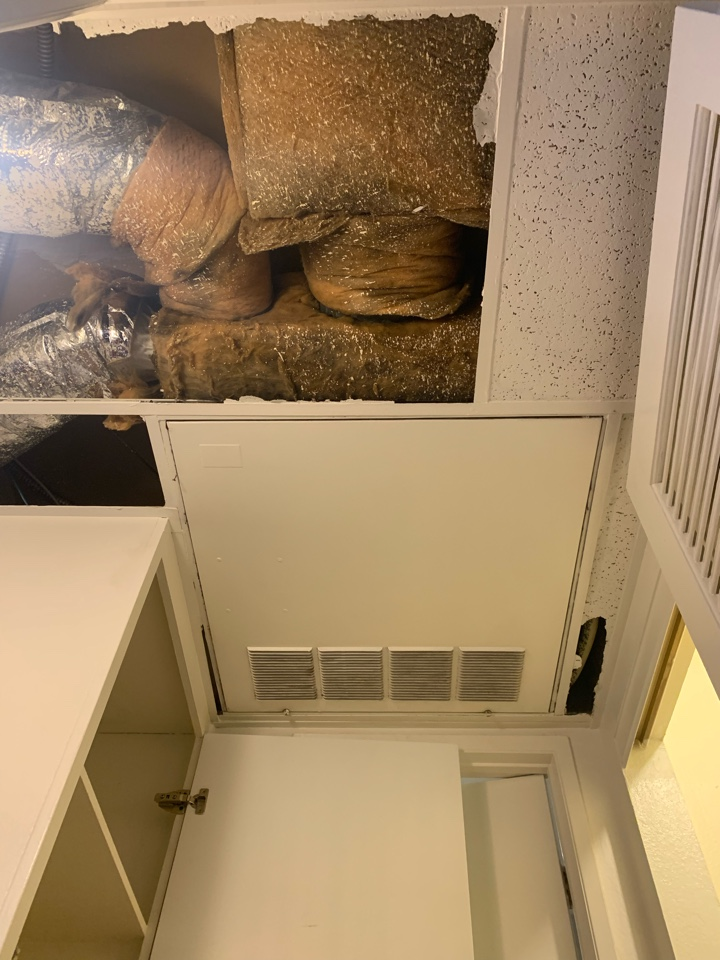 Glendale, CA - Installation in an apartment of a 2 ton pancake fan coil and condenser being changed out here in Glendale