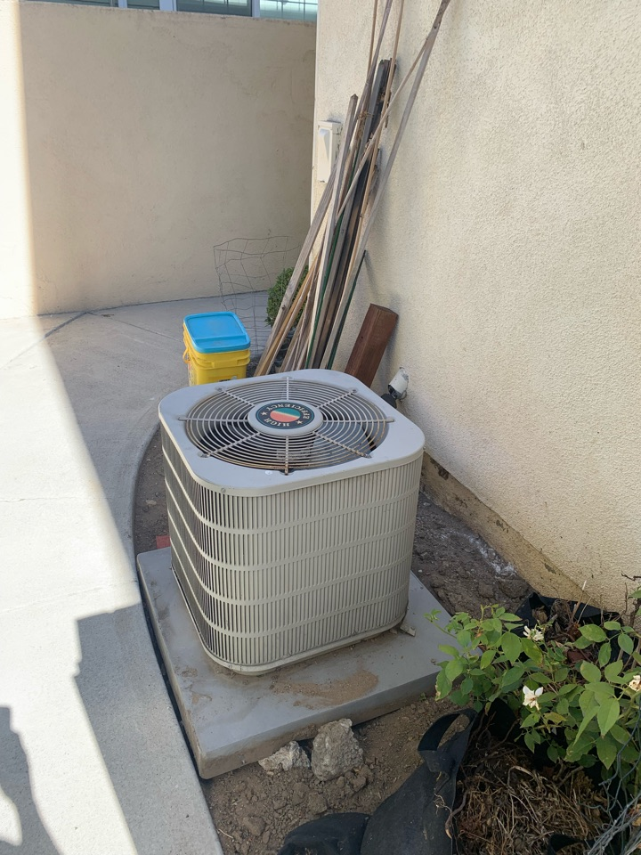 Altadena, CA - Detail of a coil and condenser only change out here in Altadena