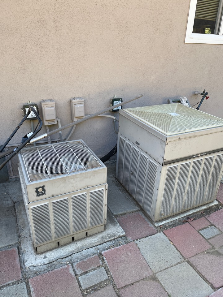 South Pasadena, CA - Time to replace these old general electric condensers here in South Pasadena