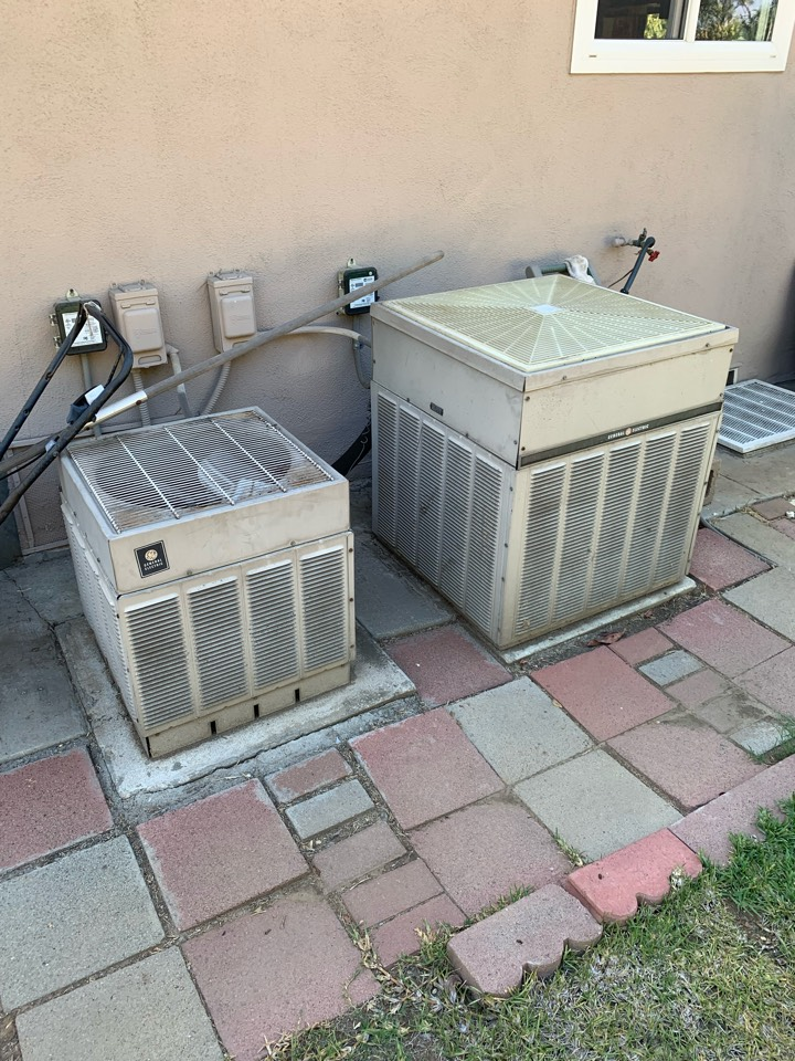South Pasadena, CA - Detail of two systems going to be changed out here in south Pasadena