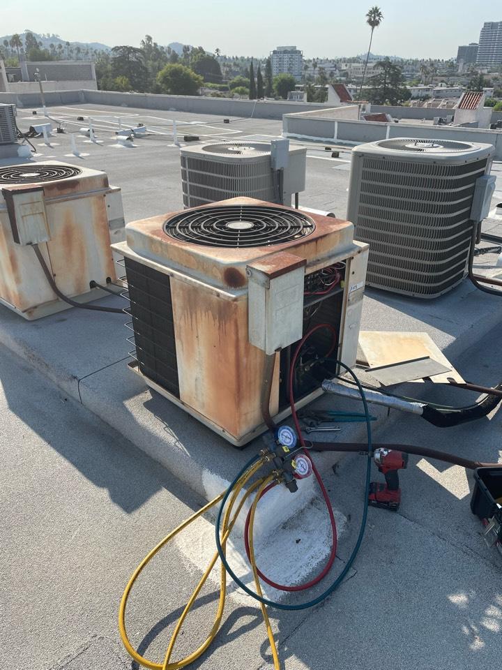 Glendale, CA - New pancake fancoil heat pump being installed here in Glendale