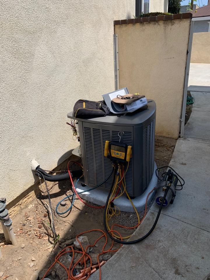 Altadena, CA - One 3 ton system being installed here in Altadena