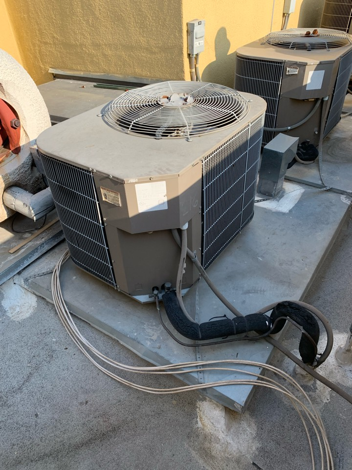 Pasadena, CA - Installation of a heat pump pancake fan coil unit being installed in an apartment here in Pasadena