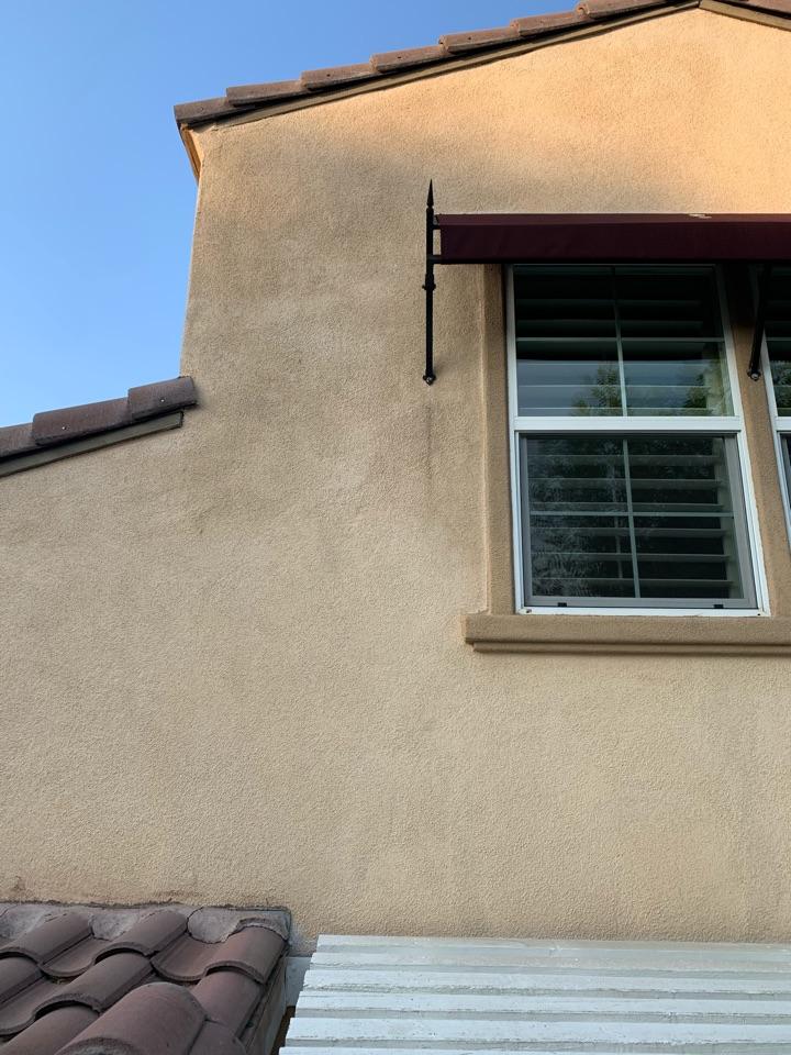 Santa Clarita, CA - Mitsubishi ductless mini split wall mount condenser going to be installed here in Santa Clarita