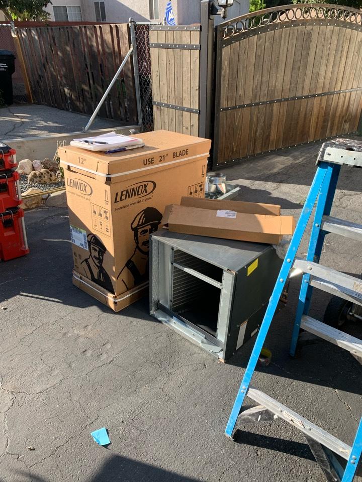 Altadena, CA - Brand new Lennox 3 ton full cut in being installed here in Altadena