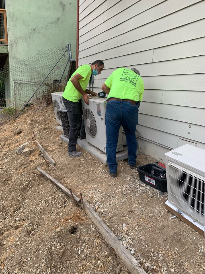 Los Angeles, CA - Removing and replacing a Mitsubishi wall mount ductless  mini split here in LA