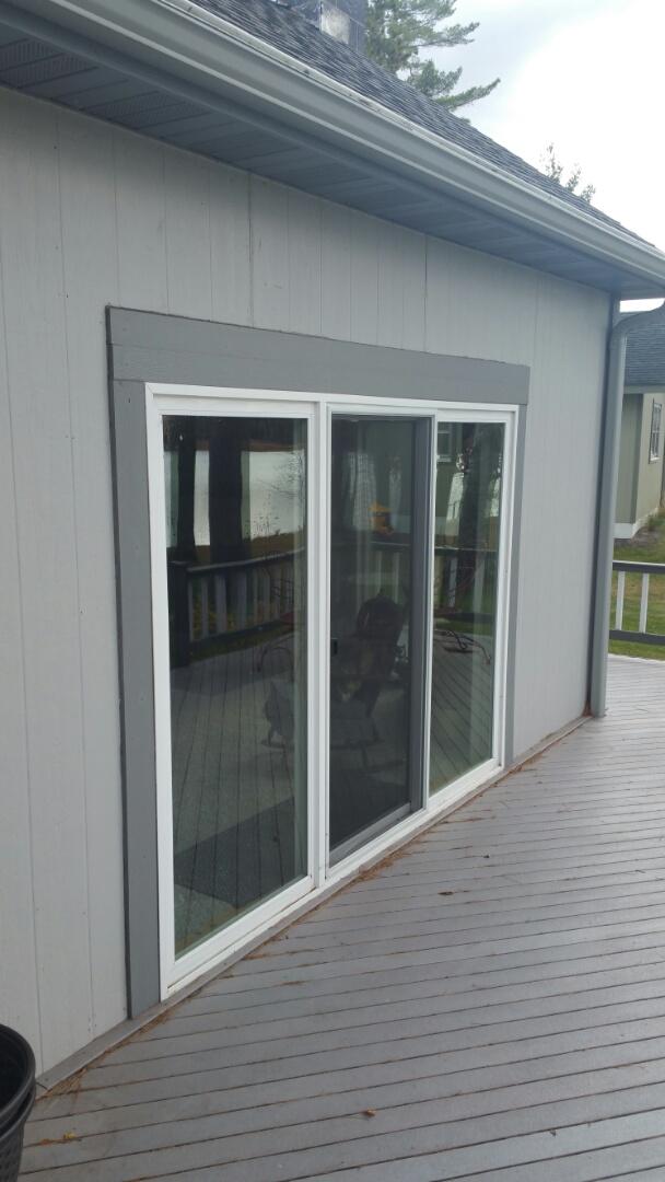 Bemidji, MN - Renewal by Andersen Better Living Concepts.  Replacing 5 400 series gliding patio doors.