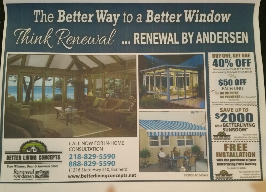Park Rapids, MN - Renewal by Andersen Better Living Concepts.  Final day of the Hubbard County Fair.