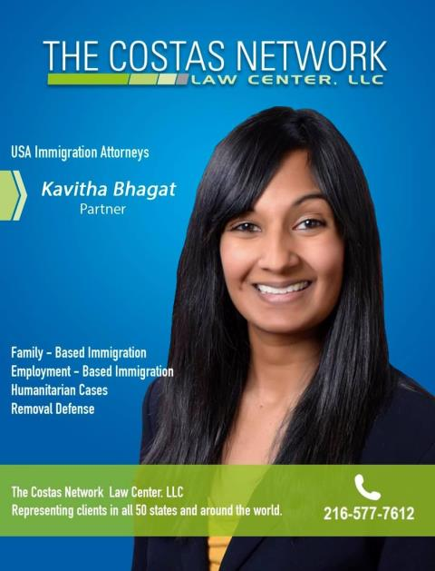 Akron, OH - Juan G became a US Citizen represented by immigration attorney Kavitha Bhagat.