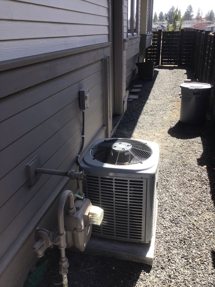 Bend, OR - Tuneup Maintenance and Safety inspection on Coleman Air-conditioner system.