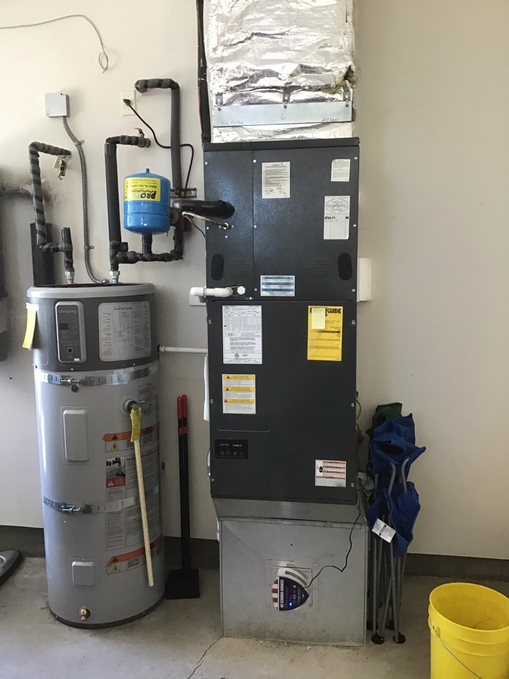Redmond, OR - Green Shield Maintenance and Safety Inspection on Goodman Airhandler and Heatpump, with Air-purification system.