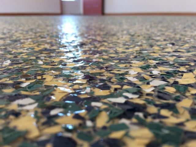 The Epoxy Flake Flooring system makes concrete flooring as beautiful as it is practical and cost-effective. This system is highly recommended for epoxy garage floors, hallways, recreational rooms, warehouses, factory ares, industrial areas, locker rooms, stair cases, fire stations, and much more!