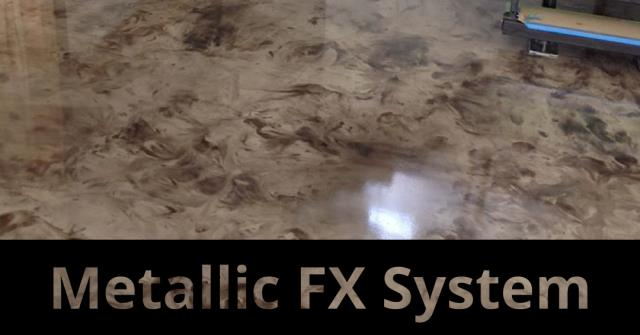 The METALLIC FX SYSTEM epoxy floor system is calling your name! This floor will shine bright in your home and create the area of your dreams!