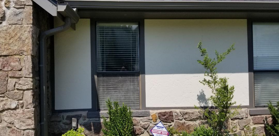 Broken Arrow, OK - Measuring windows at the Smith residence