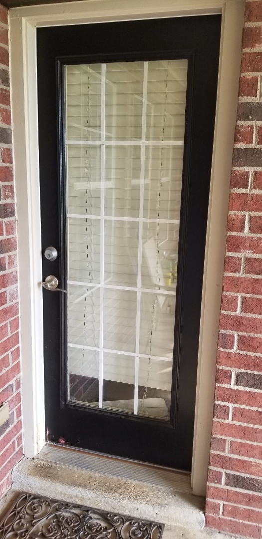 Broken Arrow, OK - Measuring an exterior door at the Mack residence